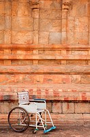 Public use wheelchair, Tanjore temple, Tamil Nadu