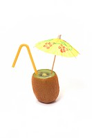 mandarin with umbrella and straw