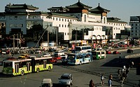 China, Beijing, street scene, traffic, architecture, people,