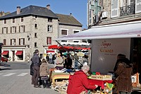 ORGANIC MARKET AND TRADITIONAL CRAFTS, EYMOUTIERS, CREUSE 23, FRANCE