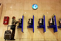 telephones, Sants train station, Barcelona, Catalonia, Spain