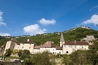 France, Franche Comte, Baumes Les Messieurs, Saint Peter abbey.