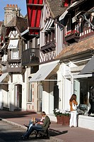 France, Normandy, Deauville, luxury stores.