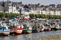 France, Normandy, Trouville_sur_Mer, harbour.