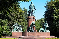 Bismark monument, Tiergarten, Berlin, Germany.