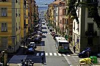 Italy, Liguria, La Spezia, street