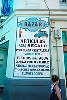 Spain, Canary islands, Tenerife, Santa Cruz, sign of a perfumery