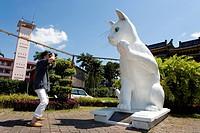 Malaysia, Borneo, Sarawak, Kushing, statue of a cat