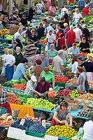 Market, Split, Dalmatian coast, Dalmatia, Croatia