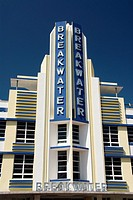 Classic building in Art Deco District, South Beach, Miami, Florida, USA
