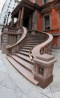 Front staircase of Union League of Philadelphia building, Philadelphia, Pennsylvania, PA, USA