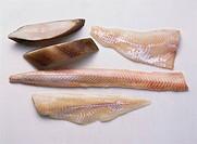 Halibut slices & fillets of cod, sea_eel & coley