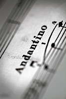 Detail of a page of sheet music