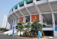 Guangzhou (China): the stadium built in occasion of the Asian Games 2010 in Tianhe