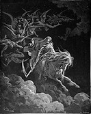 Gustave Doré, The Vision of Death from the New Testament Book of Revelations, Black and White Engraving