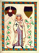 Illumination from the 14th Century Codex Manesse, Der Tannhäuser