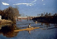 EAKINS: MAX SCHMITT, 1871.Max Schmitt in a Single Scull. Oil on canvas by Thomas Eakins, 1871.