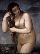 TITIAN: VENUS, 1520.Titian: Venus Anadyomene. Oil on canvas, c1520.