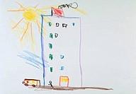 Building & Bus Art For Children