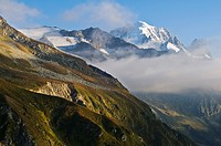 View from Aguille Vert, Mont Blanc massif, Chamonix, Alps, France