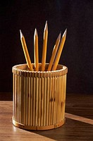 Pencils in a container