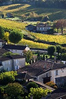 France, Aquitaine Region, Gironde Department, St-Emilion, wine town, UNESCO-listed vineyards