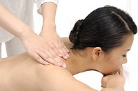 Close-up of a woman getting back massage (thumbnail)