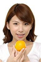 pretty woman with orange