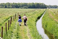 People walking and enjoying nature, Netherlands