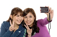 University students taking a picture of themselves