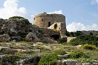 Torre d'en Penjat SANT ESTEVE MENORCA British built defense tower called The Hanging Tower