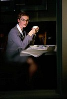 Portrait of a businesswoman holding a cup of coffee
