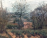 PISSARRO: RED HOUSE, 1870.Camille Pissarro: The Red House. Oil on canvas, 1870.