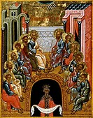 The Descent of the Holy Spirit End of 15th Century Artist Unknown Icon Cathedral of St. Sophia Novgorod, Russia Tempera on canvas