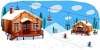 Ski Chalets, 2008, John Holcroft, b.20th C./British, Computer graphics