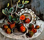 Nature Morte by Aleksander Vasil´evic Kuprin, 1918, 1880_1960