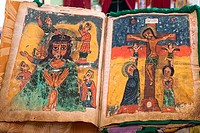 Bible pages, Church of St. Mary of Zion, Axum, Ethiopia