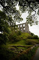 The ruins of Ynysypandy Slate Mill in Cwm Ystradllyn Snowdonia Llyn Peninsula Gwynedd North Wales UK