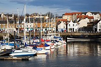 Sailing Boats in the Harbour Anstruther Fife Scotland