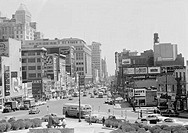 USA, New Jersey, Newark, Market Street as seen from courthouse