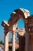 Ruins of a temple, Temple Of Hadrian, Ephesus, Turkey