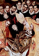 The Burial Of Count Orgaz _ Detail El Greco 1541_1614 Greek Iglesia Santo Tome, Toledo, Spain