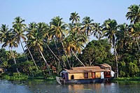India - Kerala - Houseboat on the Kerala Backwaters