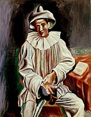 Seated Pierrot by Pablo Picasso, 1918, 1881_1973