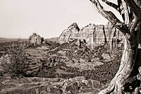 USA, Arizona, Sedona, View from Schnebly Hill of Red Rocks