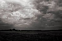 Storm clouds over a field, Arkansas, USA