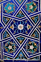 Uzbekistan, Samarkand, Shahi_Zinda Complex,Memorial & Relig. Bldgs, 14/15th Cent., Detail