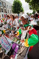 UK, England, London, Steel Band performing at Notting Hill Carnival