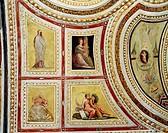 Ceiling Decoration Decorazione Del Soffitto Pedro Roviale 1511_1582 Spanish Fresco Castel Capuano, Napoli, Italy