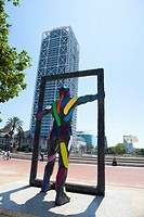 Sculture close to Hotel Arts and MAPFRE tower, Barcelona, Spain